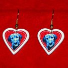 Irish Wolfhound Puppy Dog Heart Jewelry Earrings Handmade