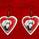 Weimaraner Dog Heart Jewelry Earrings Handmade