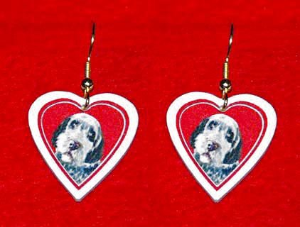 Wirehaired Pointing Griffon Heart Valentine Jewelry Earrings Handmade