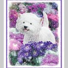 6 Westie West Highland White Terrier Note or Greeting Cards