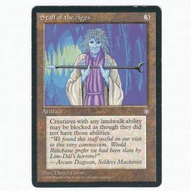 Staff of the Ages Ice Age  SP  Magic The Gathering MTG