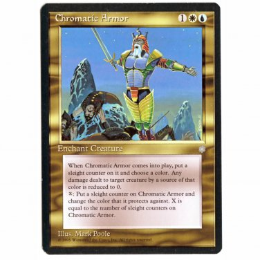 Chromatic Armor Ice Age NM  Magic The Gathering MTG