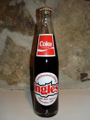 Ingles Commemorative Coke Bottle 1985