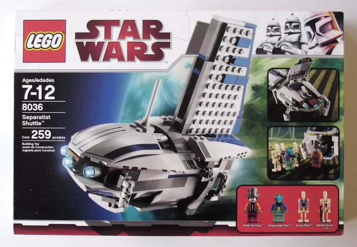 LEGO Star Wars Separatist Shuttle 8036 NEW