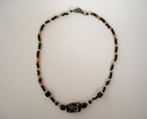 Black & Amber Necklace