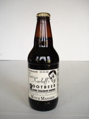 Vintage Boris Karloff's Root Beer Bottle Unopened