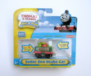 Thomas &amp; Friends Sodor Zoo Snake Car NEW