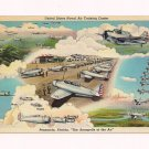 Vintage Pensacola Naval Air Training Center FL Postcard