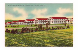 Vintage Camp Gordon Barracks Augusta Georgia Postcard