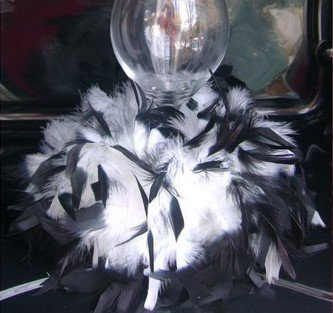 Classic and Elegant Black and White Feather  Candle Holder  Wedding Centerpieces SET OF 10