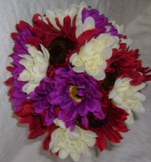 Economy friendly Toss bouquet fall colors 2