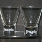 FRANGELICO Rock Glasses (2), 8oz, clear glass, NEW