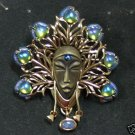 Blackshear OPAL PEACOCK PIN PENDANT, MIB