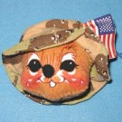 Annalee DESERT STORM MOUSE PIN, 9935,  tagged 1991, New