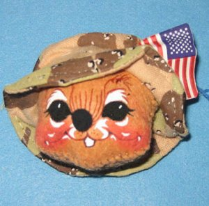 Annalee DESERT STORM Soldier Mouse Pin, 9935,  tagged 1991, New