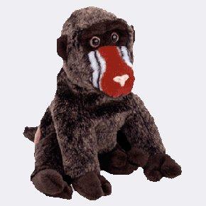 (12) CHEEKS The Baboon TY Beanie Babies 4250,  DOZEN NEW MWT