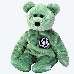 (12) KICKS The Soccer Bear TY Beanie Babies DOZEN NEW MWT