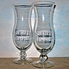 SOUTHERN COMFORT (2) Glasses Hurricane  NEW