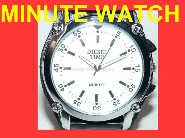 NEW STYLE MINUTE  ANALOG WATCH - WHITE DIAL