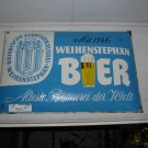 Vintage Weihenstephan Porcelain Beer Advertising Sign