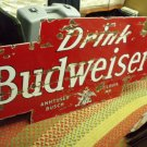 Vintage Budweiser Porcelain Advertising Sign