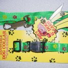 Green Paw Print Collar & Lead Set