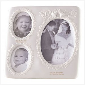 WHITE PORC WEDDING PHOTO FRAME