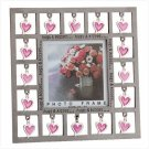 3X3 PEWTER FRAME-HUGS & KISSES