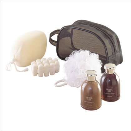 MEN BATH SET-MESH TRAVEL BAG