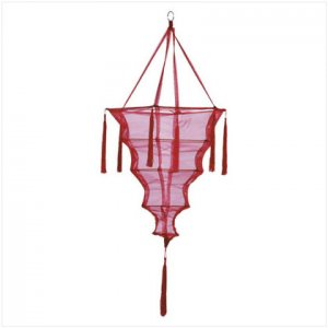 Red Fabric Lantern/Tassel