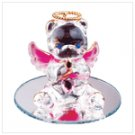 Oct Glass Angel Bear with Heart 35076