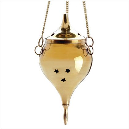 BRASS HANGING CONE BURNER 29362