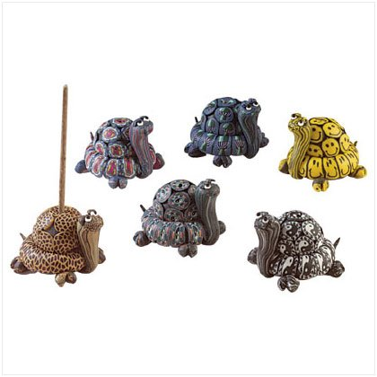 FIMO TURTLE INCENSE BURNERS (6 Pieces) 28460