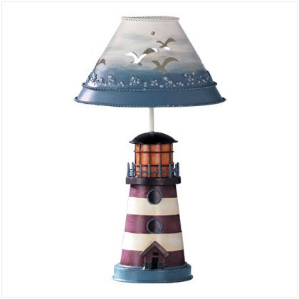PAINTED METAL LIGHTHOUSE HOLDER 32255
