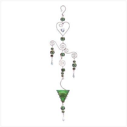 Green Art Glass Balls Candleholder 34251