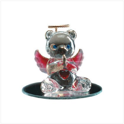 Jan Glass Angel Bear with Heart 35067