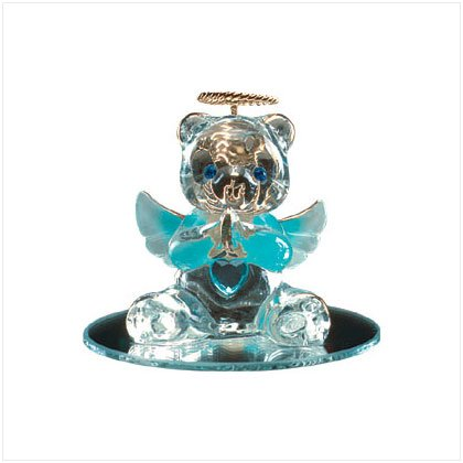 Mar Glass Angel Bear with Heart 35069
