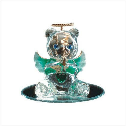 May Glass Angel Bear with Heart 35071