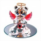July Glass Angel Bear with Heart 35073