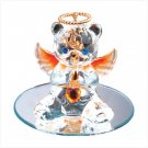 Nov Glass Angel Bear with Heart 35077