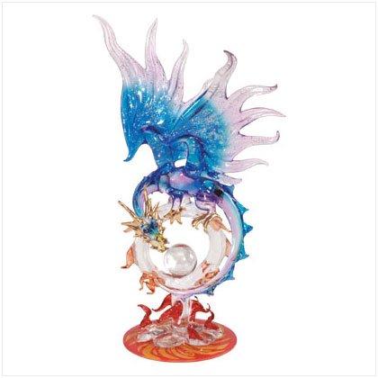 Purple Glass Dragon with Ball 35256