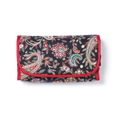 Black Red Paisley Cosmetic Bag 36765