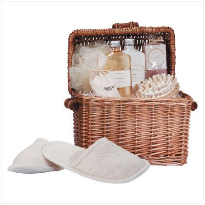 Honey Vanilla Bath Set/Chest with Slippers 34187