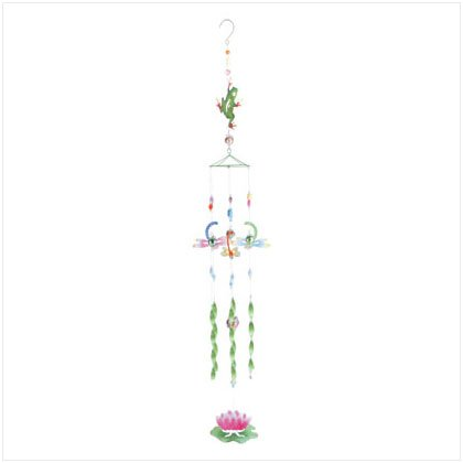 Metal Frog Lotus Windchimes 35096