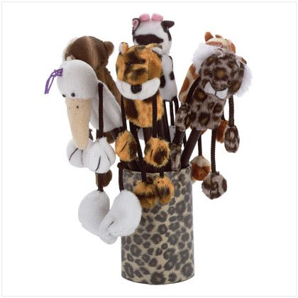 6 ASST PLUSH ANIMAL PENS (Qty 6) 31627