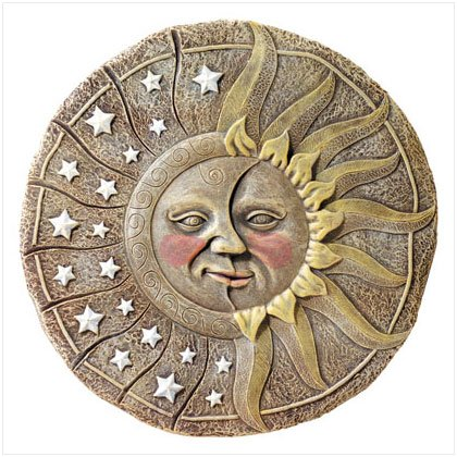 ALAB SUN & STAR GARDEN PLAQUE 31826