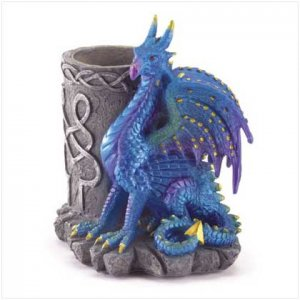 Sitting Dragon with Pencil Holder 37866