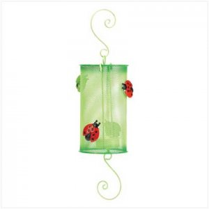 Ladybug Metal Lantern 37886