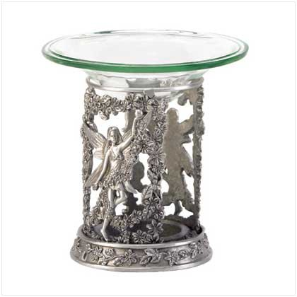 Pewter Fairy Oil Warmer 37939