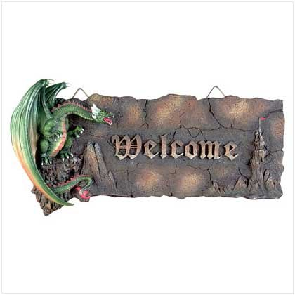 ALAB GREEN DRAGON WELCOME PLAQ